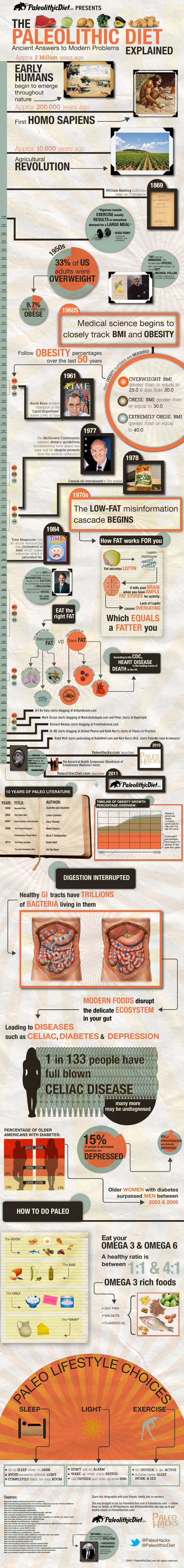 Paleolithic Diet Explained Infographic