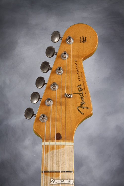 File:Fender-road-worn-50s-strat-front-headstock jpg - The